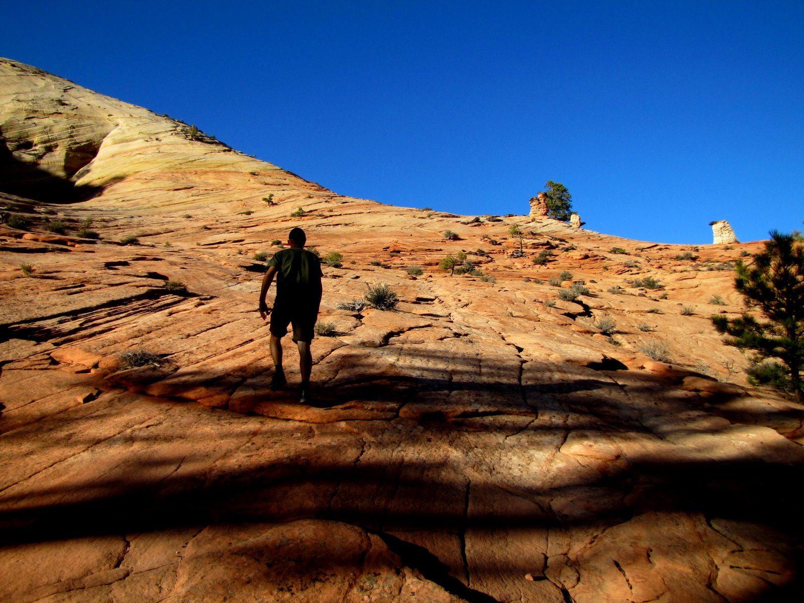 Mászunk fel a gerincre  Climbing up to the ridge