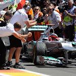 Michael Schumacher finishes 3rd in Valencia