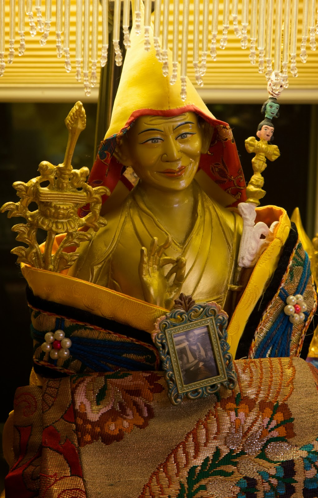 Statue in the Prajnaparamita room. Photo by Ven. Thubten Kunsang.