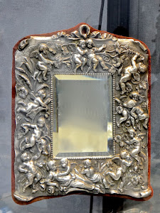 Антикварное серебряное зеркало. 19-й век. 40/30 см. 5000 евро.