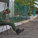 Soldier's duty must be boring