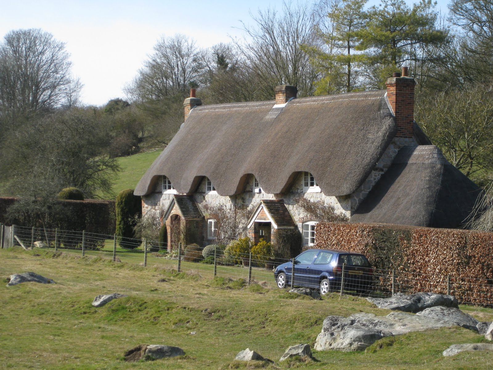 Thatched farmhouse