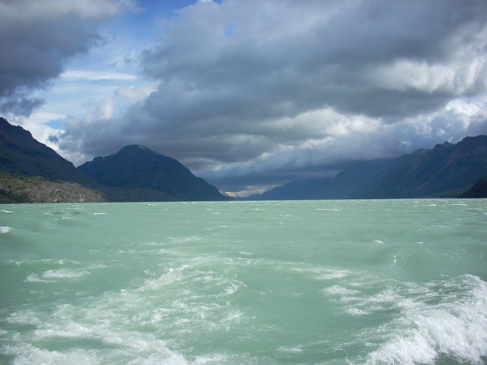 On the ferry, heading down Lago O'Higgins