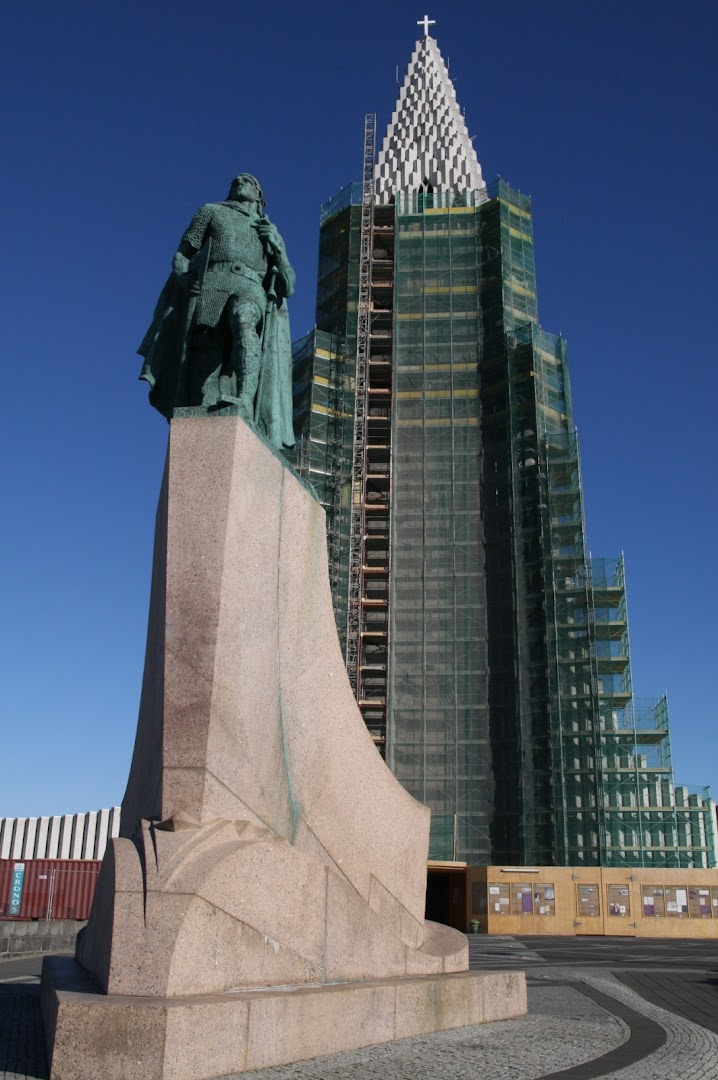 Hallgrímskirkja from the outside was under restoration...