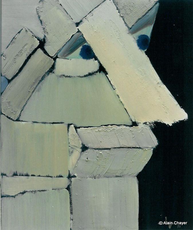 035 - Portrait d'Adrien - 1993 55 x 46 - Acrylique sur toile
