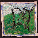 confrontation (struggle); oil on canvas; 1996