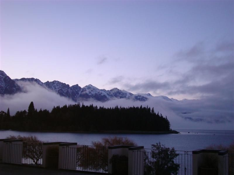 The view from bed when I woke up in Queenstown
