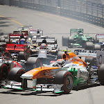 Midfield after start Monaco Grand Prix