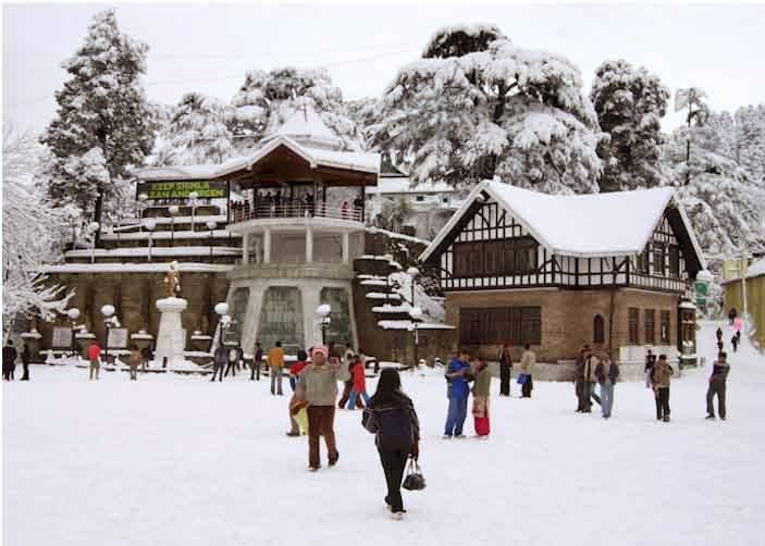 Snowfall at the ridge Shimla