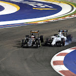 Nico Hulkenberg & Felipe Massa just before collision