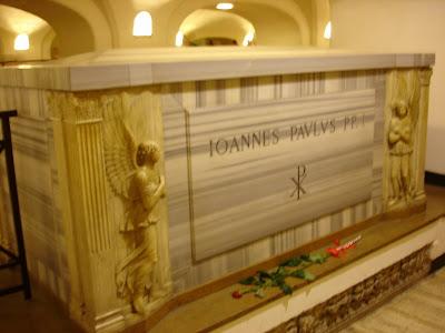 The tomb of John Paul II (pope)