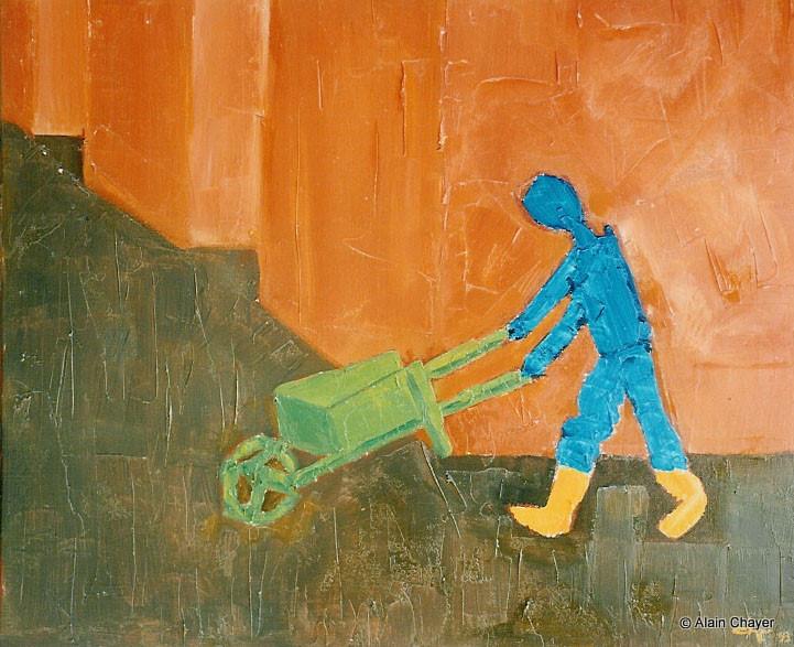 039 - Le Coin de la Rue - 1993 46 x 38 - Acrylique sur toile