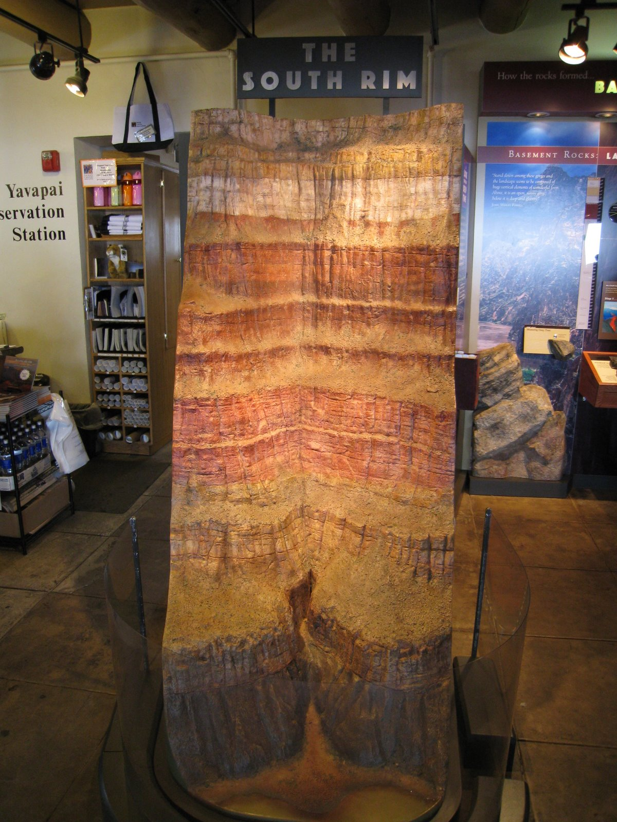 A model of the South Rim inside the Yavapai Observation Station