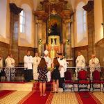 A helyiek köszönetnyilvánítása a püspök atyának