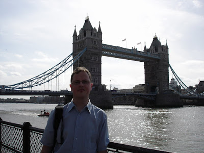I found a random tourist to take my photo in front of Tower Bridge