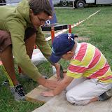 Děti si u nás mohly vyzkoušet třeba zatloukání hřebíku