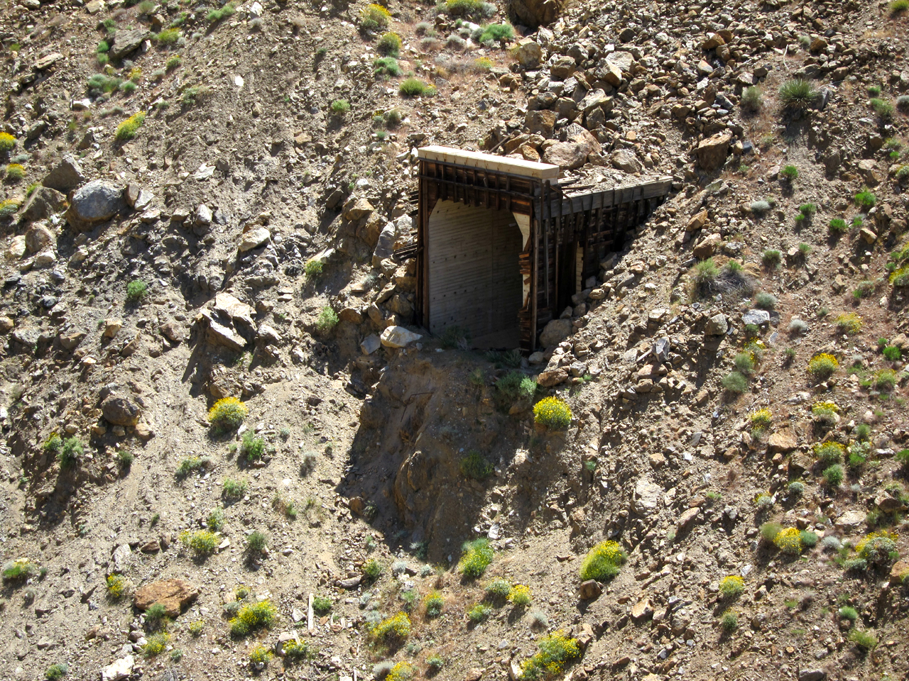 The collapsed tunnel that initiated the building of the Goat Canyon Trestle