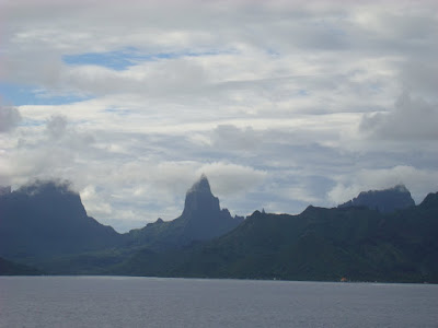 My first view of Moorea