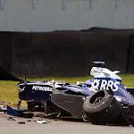 Nico Rosberg accident 2006 Brazil F1 GP
