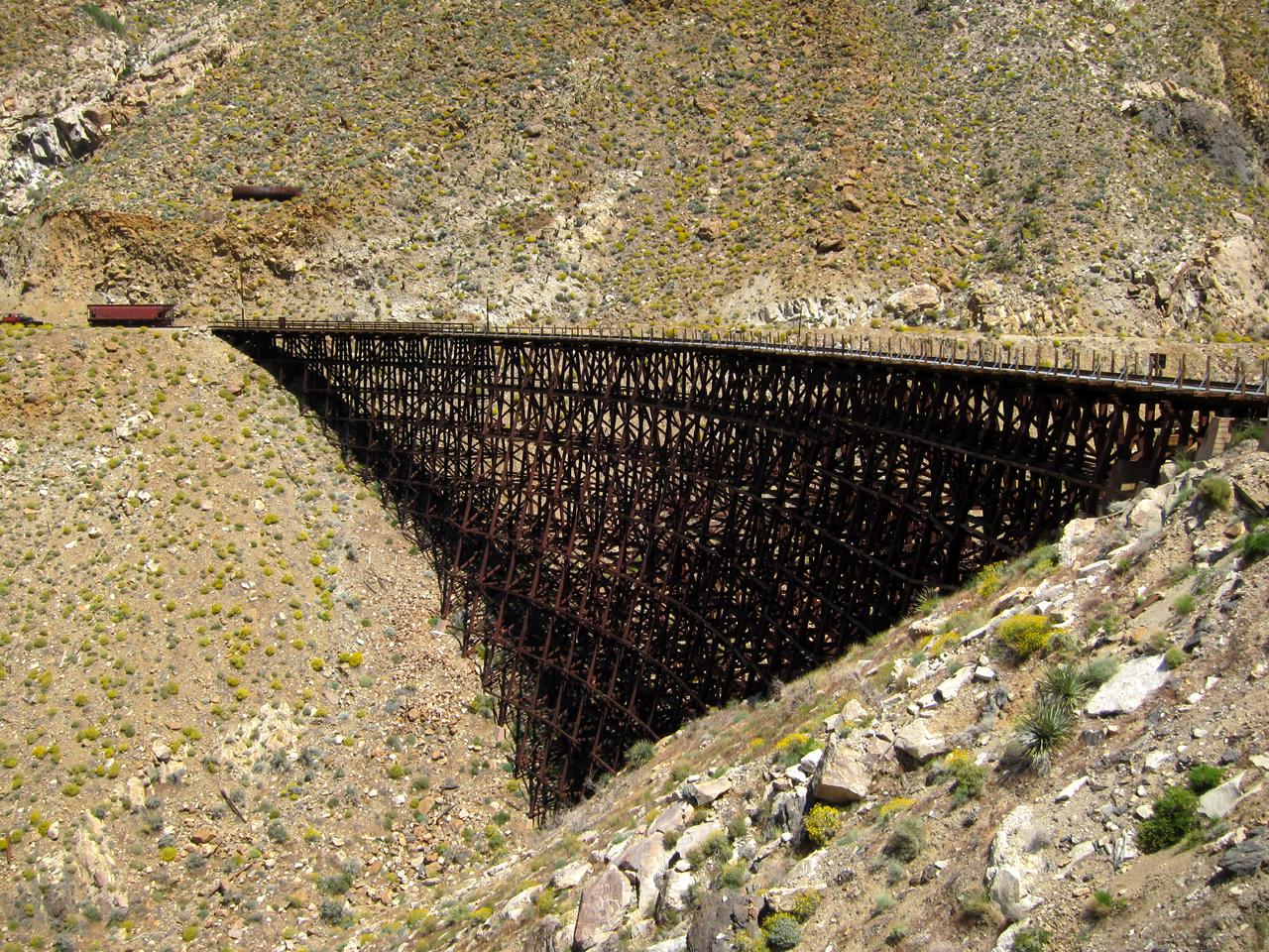 The spectacular Goat Canyon trestle deep in Carrizo Gorge - Anza Borrego