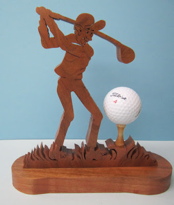 NOTSO Sharp Golfer Cherry Dirk Boelman Creative Woodworks August 2011