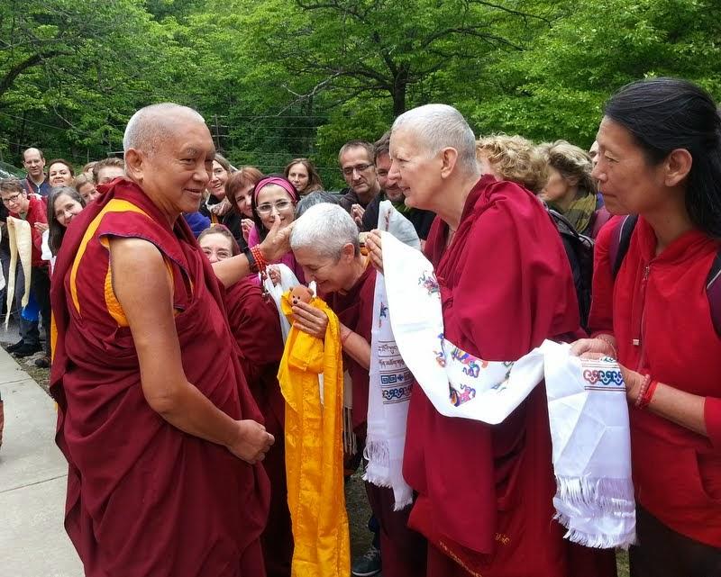 Lama Zopa Rinpoche departing from the retreat, Black Mountain, North Carolina, US, May 18, 2014