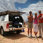 Cold beer in the desert 8-) - there's a fridge in the canopy