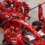 Pitstop Rubens Barrichello Ferrari F2001