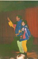 Christine Renaud et Paul Bancais 03 Les Gourmandises spectacle primaire 1994 Cossé