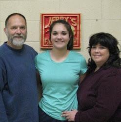 Jenna Holdaway, her parent
