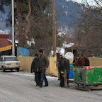 Old school sledges in Bakuriani