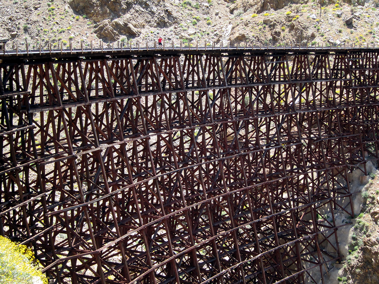 Bob gives some perspective to the sheer size of the Goat Canyon Trestle