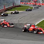 Alonso leads team mate Raikkonen