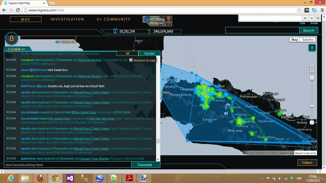 AzurePaladin linked Pari Island Gate to Bio Tjou Soe Kong, creating control field with 575212 MUs