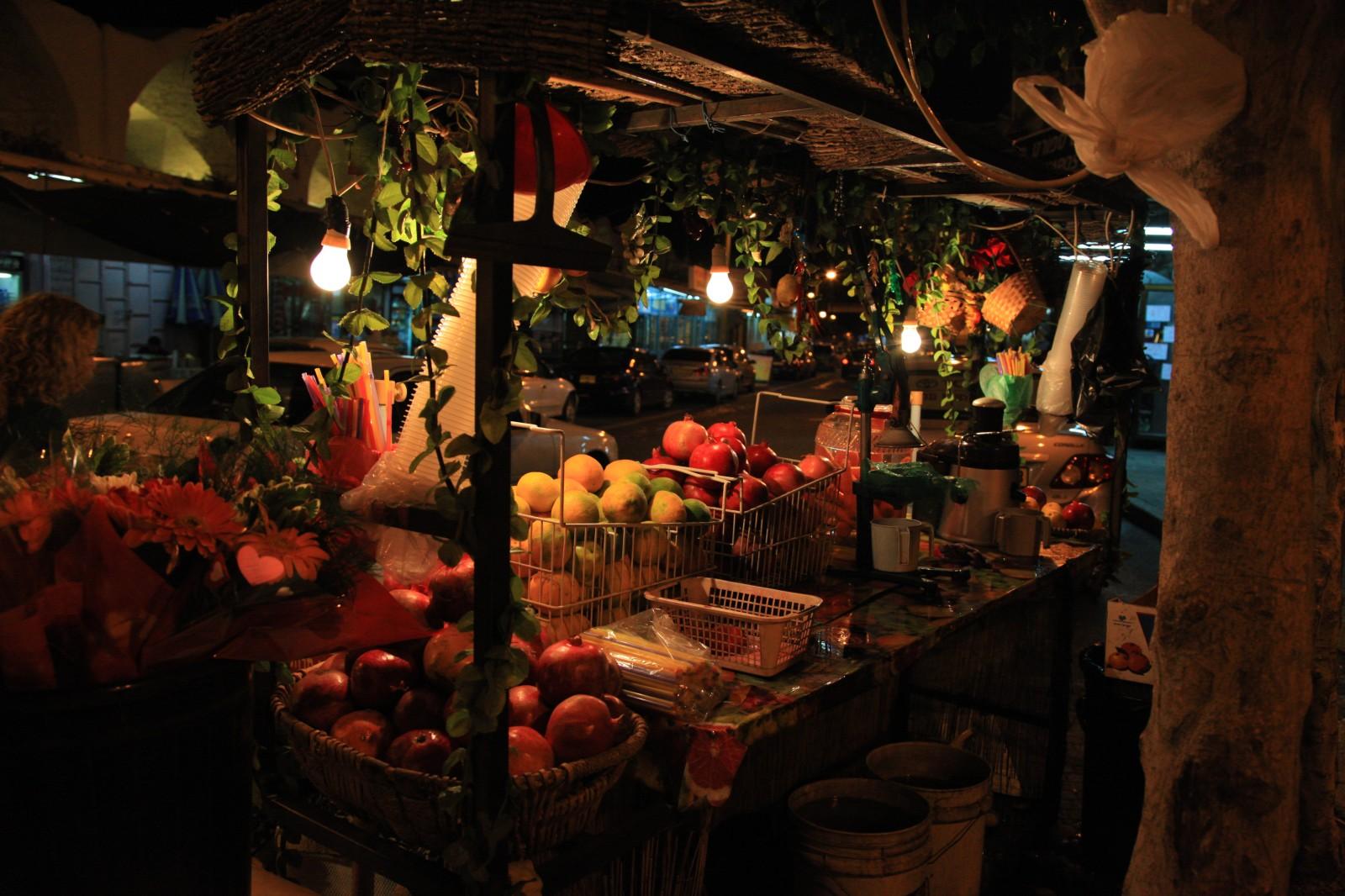Market in Akko - an Arabic city