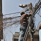 Electricity is scarce in Kathmandu - only turned on for several hours during the day for domestic use