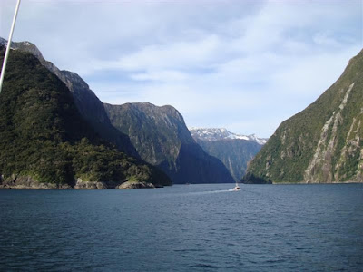 The Milford Sound entrance from the Tasman Sea