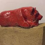 Panda Rosso1 gress 20x15x8 Disponibile