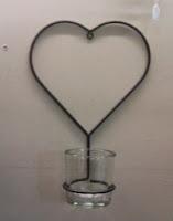 hart hanger groot  met glas