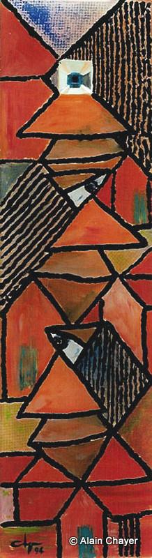 059 - Le Troisième oeil - 1994 16,5 x 60,5 - Acrylique sur résine
