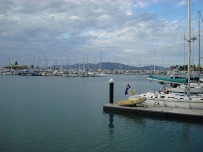Breakwater Marina, Townsville. Magnetic Island in the background