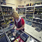 A shop in Chernobyl town, they sell lots of contamination-free alcohol here