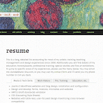 New WordPress responsive child-theme - resume page