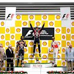 2011 Belgian F1 GP Podium: 1. Vettel 2. Webber 3. Button