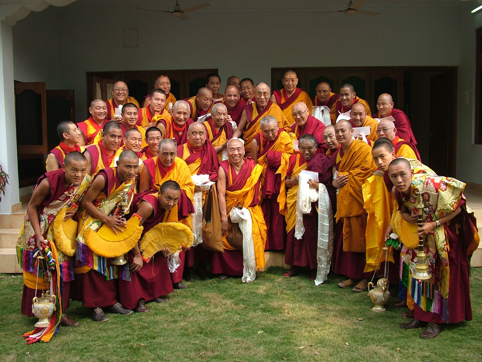 FPMT Geshes's with His Holiness the Dalai Lama