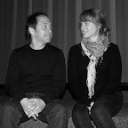 Vincent PLUSS, réalisateur et Lucie ZELGER, une des ses comédiennes
