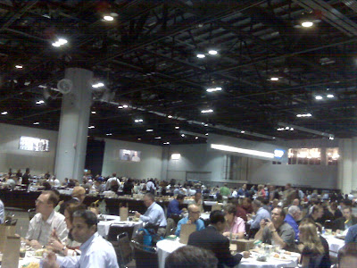 5000+ people all having lunch at once. It was quite an experience!