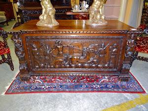 Большой письменный стол. 19-й век. 173/90/80 см. 3900 евро.