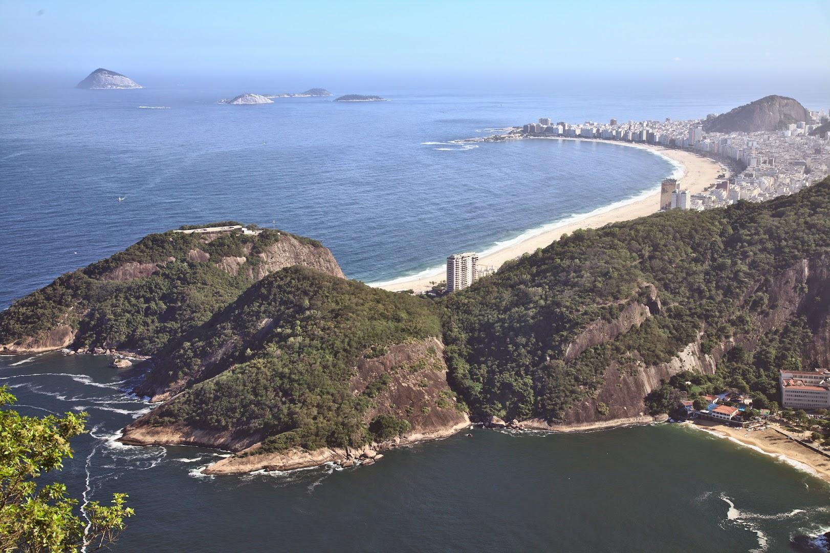 Ipanema is behind Copacabana