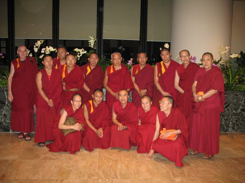 Lama Zopa Rinpoche and FPMT Sangha in Singapore